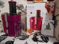 SilverCrest JUICER in deep pink - used twice (boxed)