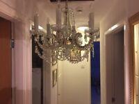 Antique Crystal Chandelier 6 Lights