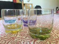 Set of five coloured tumblers £5 or best offer