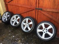 """MERCEDES CLS 2013 GENUINE 18"""" 5 SPOKE ALLOY WHEELS WITH TYRES VERY GOOD CONDITION"""
