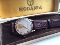 stunning vintage 9k 9ct solid gold mens watch boxed! REDUCED FOR CHRISTMAS
