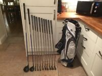 Golf clubs-Set of Ping G5 clubs, Driver, 3 Wood, Irons plus putter, superb bag, glove, balls & more