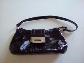 Wallis Black Patent Bag