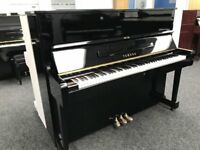 Yamaha U1 Upright Piano Black Year 1982 Warranty & Stool