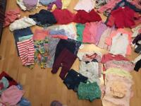 Huge selection of girls clothes 6-12 months mostly baby Gap and next