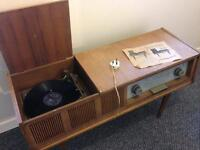 Unitra dg-204 record player with radio.
