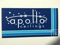 Apollo Ceilings looking for experienced fixers and boarders