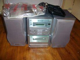 stereo sharp dvd/cd /radio player like new