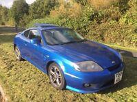 Hyundai coupe 2.0 SE 55 Reg face lift model Miami blue black leather . PETER JAMES CARS 07867955762