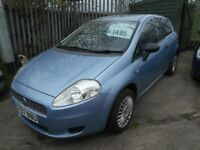 FIAT GRANDE PUNTO 1.2 ACTIVE 3DR 2007 MODEL,83000 MILES,12 MONTHS MOT ON PURCHASE,LOW INSURANCE