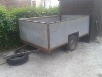 Large lightweight aluminium trailer