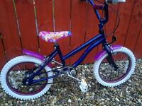 "GIRLS 16"" WHEEL GLITTER BICYCLE WITH MUDGUARDS**FREE DELIVERY HULL**"