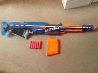 Nerf Mega Centurion - Sonic Ice Variant - With Mag, Bipod & 6 Mega Darts
