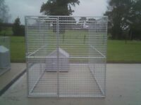 Dog/Animal pen/run 12ft x 6ft galvanised steel with bar for roof