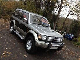 MITSUBISHI PAJERO EXCEED 2.8 TD 7 SEATER VERY HI SPEC/ TOAD ALARM FITTED/SHOWGUN/ DISCOVERY/X TRIAL