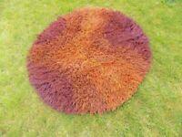 Circular occasional rug