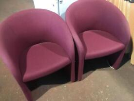 Purple Tub Chairs (Pair)