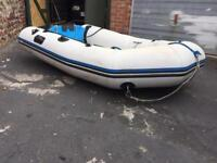 Zodiac rib inflatable boat with outboard