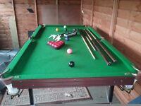 6ft Pot Black snooker table