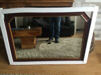 Mahogany mantle mirror