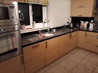 Full kitchen for sale inc units, appliances and worktop