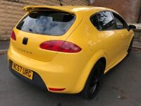 **CHEAP** 2008 Seat Leon Cupra 2.0 TFSi 240 Bhp Yellow px s3 golf r r32 k1