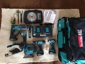 Makita 18V Li-ion Cordless 6 piece tool kit