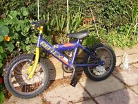 boys 16''wheel Reflex mountain bike age 5-7approx