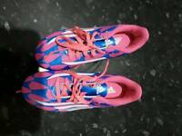 Kids adidas football boots almost new size 1.5