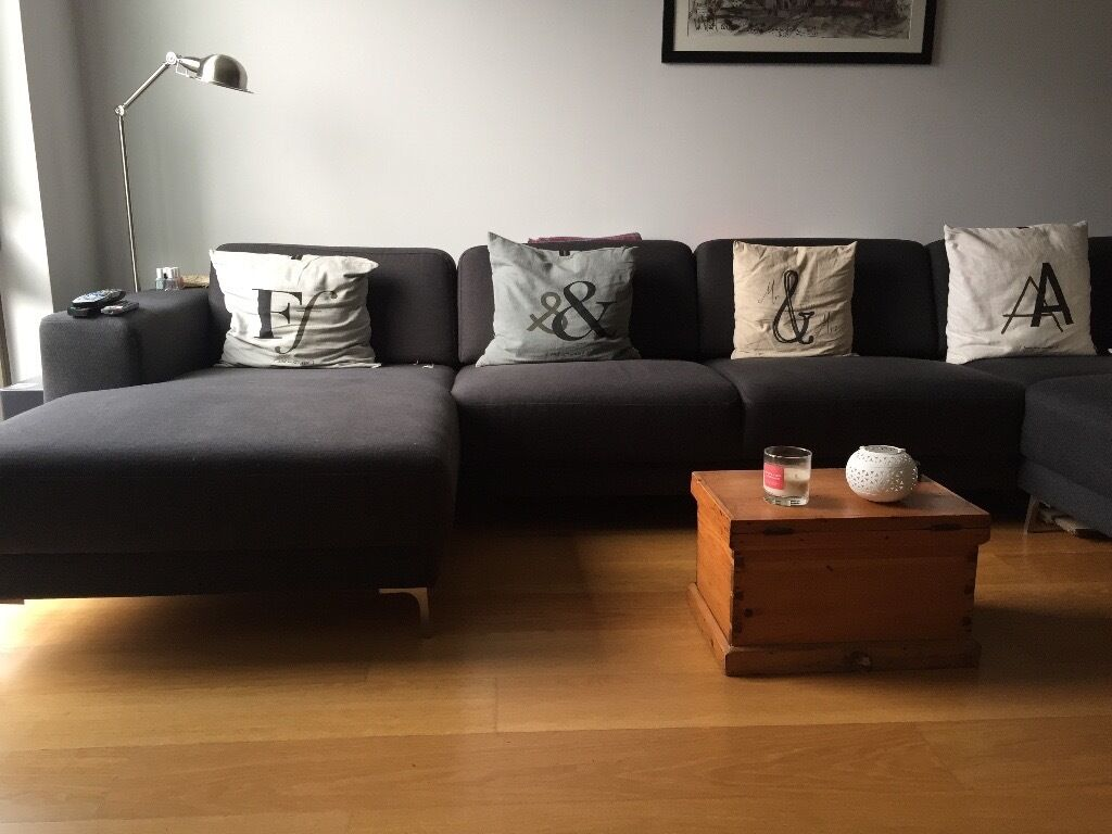made com l shaped corner sofa dark grey in greenwich london gumtree. Black Bedroom Furniture Sets. Home Design Ideas