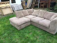 Jumbo cord sofa and corner suite