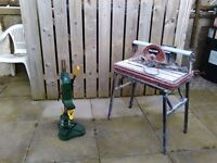 Mortus drill and press stand and wet tile saw