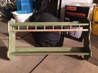 Plate rack - pine green stained
