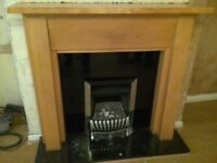 A Fire Surround, Back Panel and Hearth ONLY For Sale