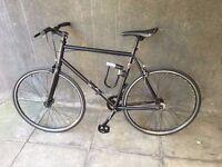 Black single speed, road bike in perfect condition near regent's park