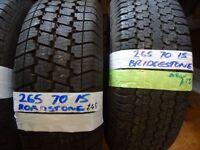 265 70 15s & 255 70 15s selection of brand new tyres ALL £45 EACH (yokohamas bridgestones etc)