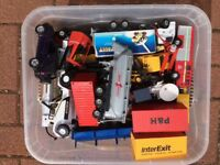Box of DieCast Transport Toys