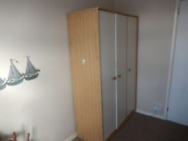 Large three door combination wardrobe