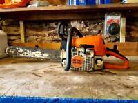 STIHL MS250 CHAINSAW - 2007 MODEL - 17 INCH BAR AND CHAIN