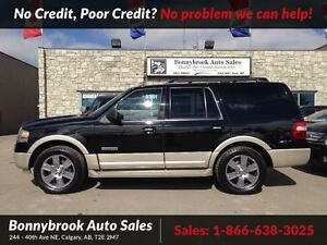 2008 Ford Expedition Eddie Bauer 4X4 7 PASSENGER W/LEATHER P/SUN