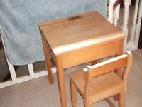 childs school type desk and seatdes
