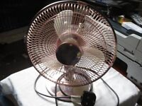 desk fan prem-i-air work perfectly rotates perfect 2 speeds brass coloured