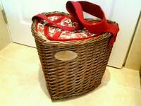 Laura Ashley Cooler Picnic Basket Like New condition