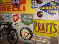 Vintage/Classic automobilia wanted.Signs,cans,parts,any interesting motoring items. Cash paid !