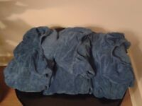3 x massage bed / table covers and 3 x face cradle covers, blue