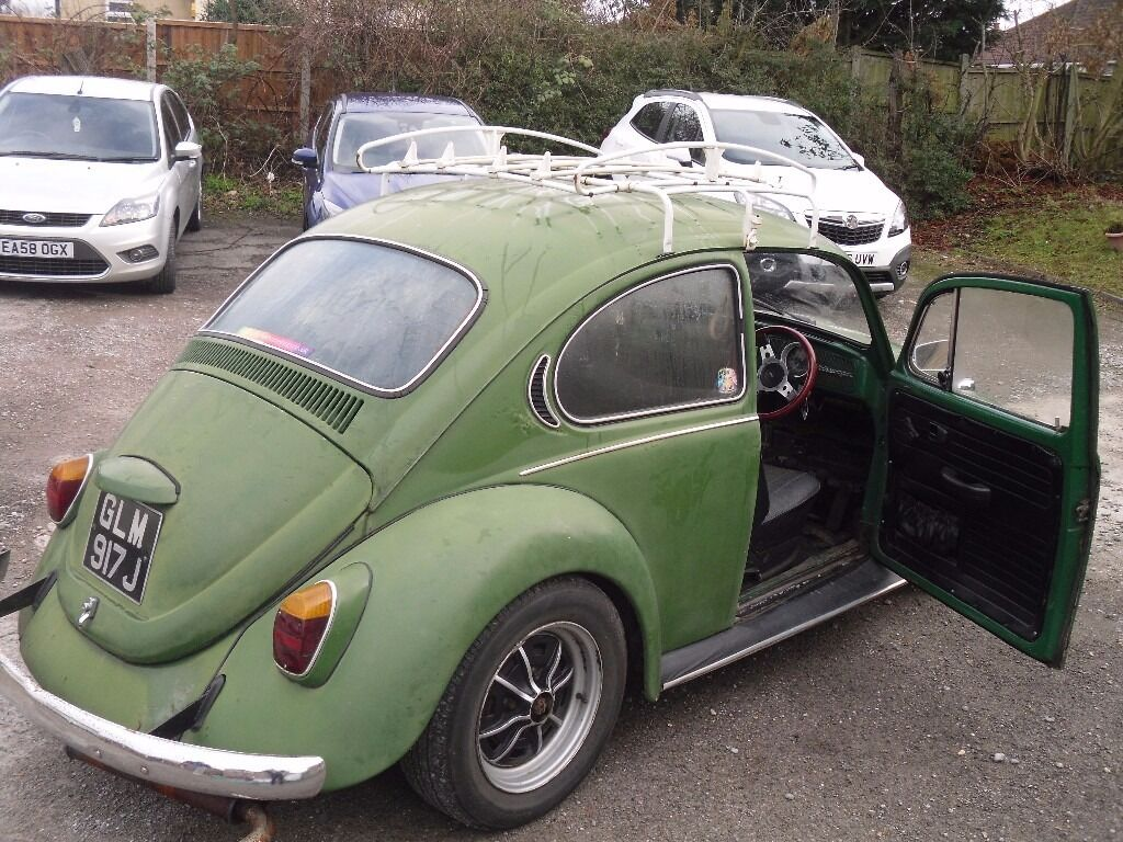 1971 Vw Beetle Mot 1600cc Rat Look Green In Basildon