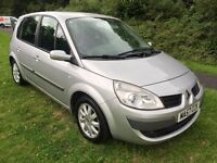 RENAULT SCENIC AUTOMATIC 1.6 DYNAMIQUE 57 REG, ICE SILVER, FULL SERVICE HISTORY AND CAMBELT CHANGE