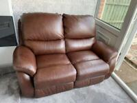 lay z boy Leather 2 Seater Sofa, Vgc Grade d Leather
