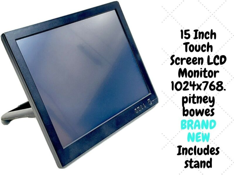15 Inch Touch Screen LCD Monitor 1024x768. pitney bowes   (all cables included)