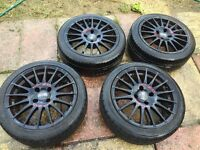 "17"" OZ Racing wheels with tyres"
